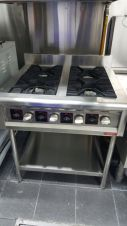 Peralatan Dapur Restoran Gas Table Range 4 Burner 1 17