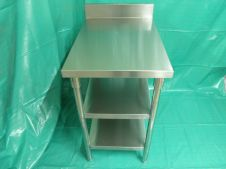Peralatan Dapur Restoran S-S Work Table With Double Under Shelf 1 p8260017