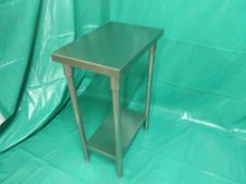 Peralatan Dapur Restoran S-S Filler Table With Under Shelf 1 p8260025
