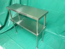 Peralatan Dapur Restoran S-S Table Double Over Shelf 1 p8260028